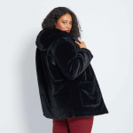 Макси размер дамско палто от еко кожа