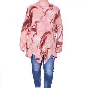 Асиметрична дамска блуза макси размер