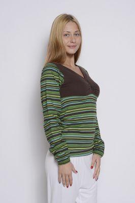 Дамска блуза с широко деколте