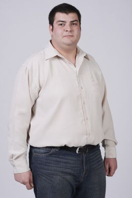 Мъжка риза с дълъг ръкав-макси размер