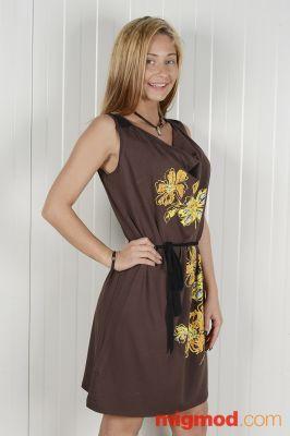 Дамска рокля на цветя