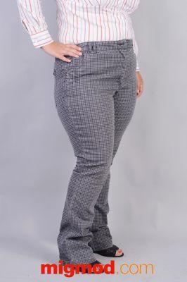 Дамски дънков панталон голям номер