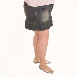 Голям размер дамска дънкова пола