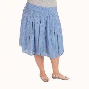 Голям размер дамска плисирана пола