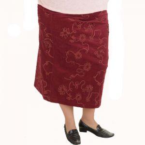 Дамска пола от кадифе голям размер