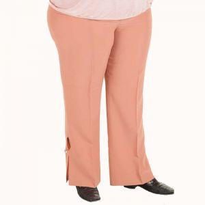 Розов дамски панталон голям размер