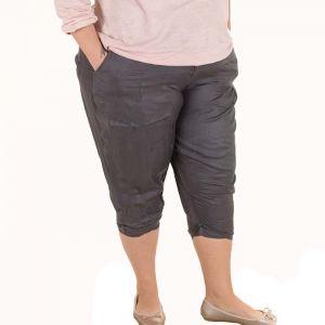 Голям размер дамски панталони с дължина 7/8