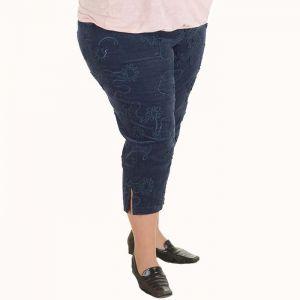 Голям размер дамски панталони 7/8 от кадифе