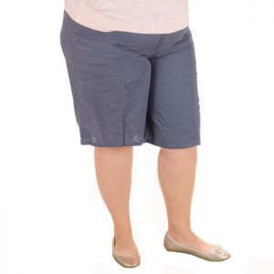 Голям размер дамски ленени панталони