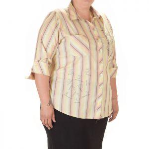 Дамска риза на рае голям размер