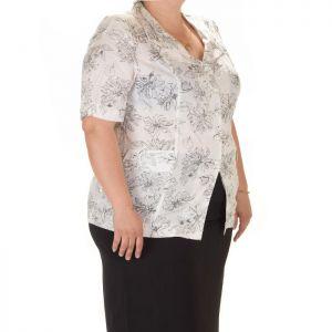 Дамска риза макси размер с къс ръкав