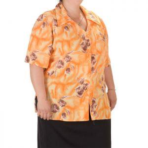 Дамска риза с къс ръкав голям номер