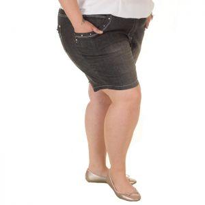 Къси дамски дънки голям размер