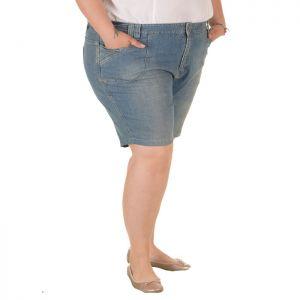 Голям размер дамски къси дънки