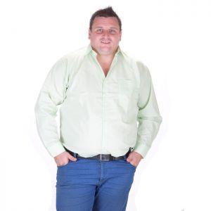 Светло-зелена мъжка риза голям номер