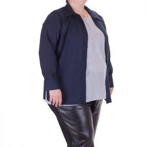 Дамска риза с дълъг ръкав голям размер
