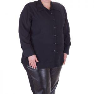 Черна дамска риза голям размер