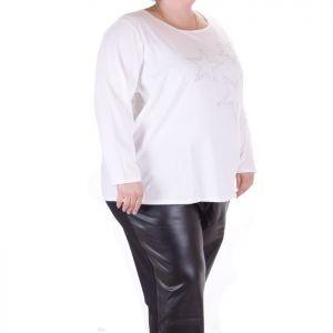 Спортно елегантана дамска блуза макси размер