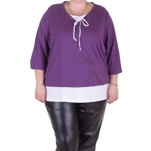 Спортно елегантана дамска блуза голям размер