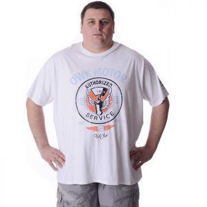 Мъжка тениска с щампа голям размер