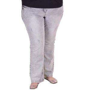 Елегантни дамски дънки голям размер