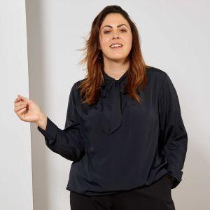 Голям размер официална дамска блуза
