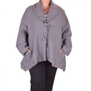 Дамско палто-пелерина макси размер