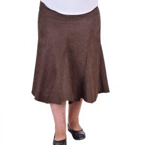 Дамска пола от еко кожа макси размер
