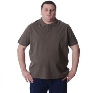 Голям размер мъжка блуза с къс ръкав