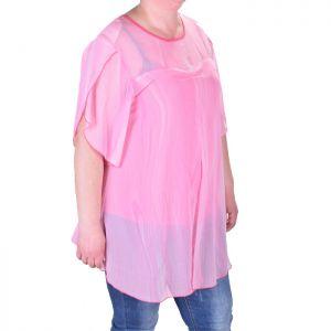 Розова дамска туника голям размер
