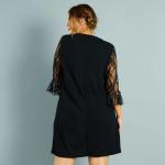 Черна дамска рокля макси размер