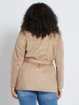 Дамско велурено яке голям размер