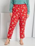 Макси размер панталон на цветен принт