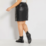 Макси размер кожена пола