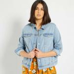 Макси размер дамско дънково яке