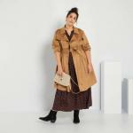 Голям размер дамски шлифер от велур